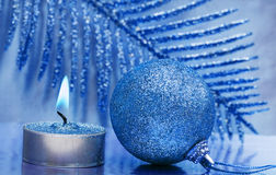 Festive New-year Candle Royalty Free Stock Photo
