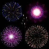 Festive night fireworks. Royalty Free Stock Photography