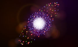 Festive night fireworks. Vector. Royalty Free Stock Images
