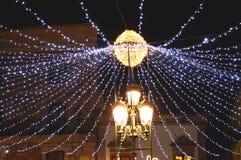 Festive night lighting Stock Image