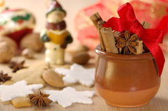 Festive Nuts & Spices Stock Photos