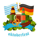 Festive Oktoberfest Banner  Royalty Free Stock Photos
