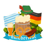 Festive Oktoberfest Banner  Royalty Free Stock Photography
