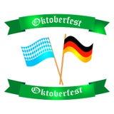 Festive Oktoberfest Banner. Oktoberfest celebration  poster. Oktoberfest  text. Beer Oktoberfest German festival keg of beer, bottle beer. Festive Oktoberfest Stock Photo