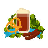 Festive Oktoberfest Banner vector Stock Photo