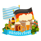 Festive Oktoberfest Banner vector Royalty Free Stock Photography