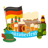 Festive Oktoberfest Banner vector Royalty Free Stock Images