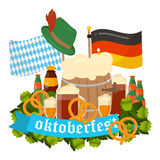 Festive Oktoberfest Banner vector Stock Photos