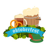 Festive Oktoberfest Banner vector Royalty Free Stock Photos