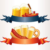 Festive Oktoberfest Banners stock illustration