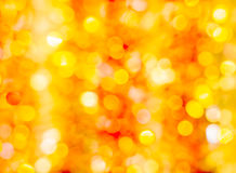 Festive orange and yellow bokeh Royalty Free Stock Image