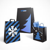 Festive paper bags. Vector Illustration of Festive paper bags Royalty Free Stock Photo