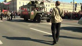 Festive parade stock video