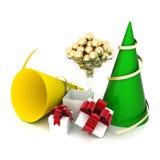 Festive paraphernalia. Image festive paraphernalia on a white background Stock Photos