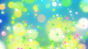 Festive particles and dots of different colors vector illustration