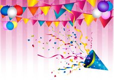 Festive party background vector illustration