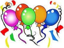 Festive party balloons Stock Photography