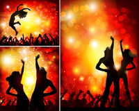 Festive party in the nightclub. Man and woman on the festive party in the nightclub Royalty Free Stock Photo
