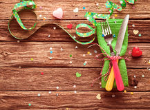 Festive party place setting Stock Image