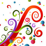 Festive Party Swirls Royalty Free Stock Photos