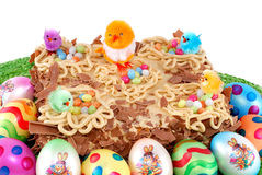 Festive pastry, decorated easter tart Royalty Free Stock Photography
