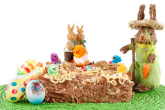 Festive pastry, decorated easter tart Royalty Free Stock Photos