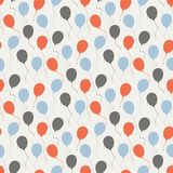 Festive pattern with balloons. Vector seamless celebratory pattern with balloons on a white background Royalty Free Stock Image