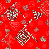 Festive pattern of geometric shapes Stock Images