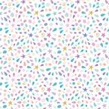 Festive pattern with glitter confetti, stars and splashes. For birthday celebration. Raster illustration vector illustration