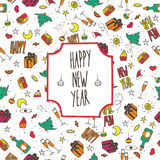 Festive pattern Happy New Year Royalty Free Stock Photography