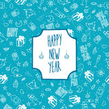 Festive pattern Happy New Year Stock Image