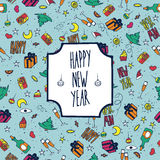 Festive pattern Happy New Year Stock Photo
