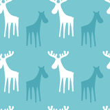 Festive pattern with Reindeer. Christmas and New Year background Royalty Free Stock Photos
