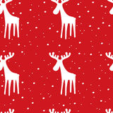 Festive pattern with Reindeer. Christmas and New Year background Stock Photos
