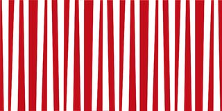 Festive pattern template with red and white vertical stripes. Vintage retro stripes design. Creative vertical banner. Vector illustration for design, banner Royalty Free Stock Images