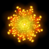 Festive patterned firework  bursting  in various shapes sparkling pictograms  Stock Photography