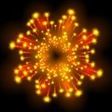 Festive patterned firework  bursting  in various shapes sparkling pictograms  Stock Images