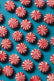 Festive Peppermint Candy Canes Stock Photo