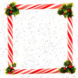 Festive Peppermint Frame Royalty Free Stock Photography