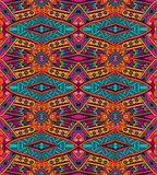 Festive peruvian geometric seamless pattern. Abstract geometric mosaic vintage ethnic seamless pattern ornamental Royalty Free Stock Photo