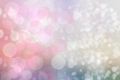 Festive pink white bright abstract Bokeh background texture on pastel color tone. Beautiful backdrop with space.  royalty free illustration