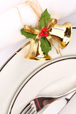 Festive place setting Royalty Free Stock Photos