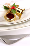 Festive place setting Royalty Free Stock Photography