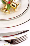 Festive place setting Royalty Free Stock Images