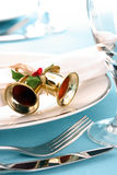 Festive place setting Stock Images