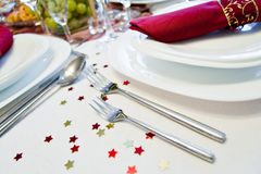 Festive place setting Royalty Free Stock Image
