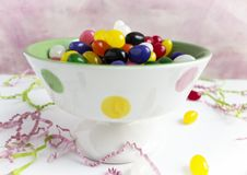Bowl of Jelly Beans Stock Photos