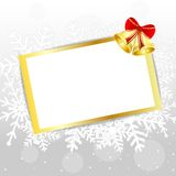 Festive postal with campanellis. Vector  illustration Stock Images