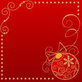 Festive postcard. Christmas festive postcard with beautiful ball and free space for Your text Royalty Free Stock Photo