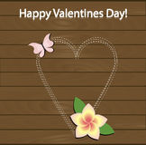 Festive poster happy Valentine's day. Pattern to decorate. Or design a greeting card or page for your scrapbook album or gift. Beautiful vector illustration Stock Images